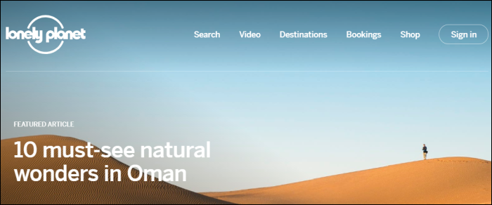 lonely planet home page
