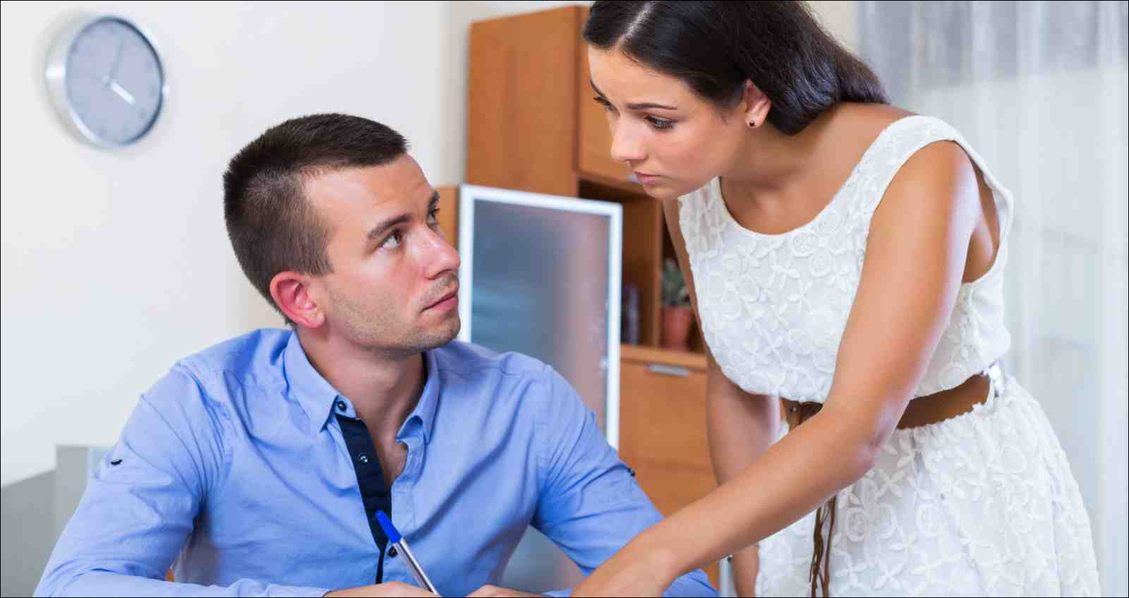 Irritated unhappy spouses having serious conversation about family budget