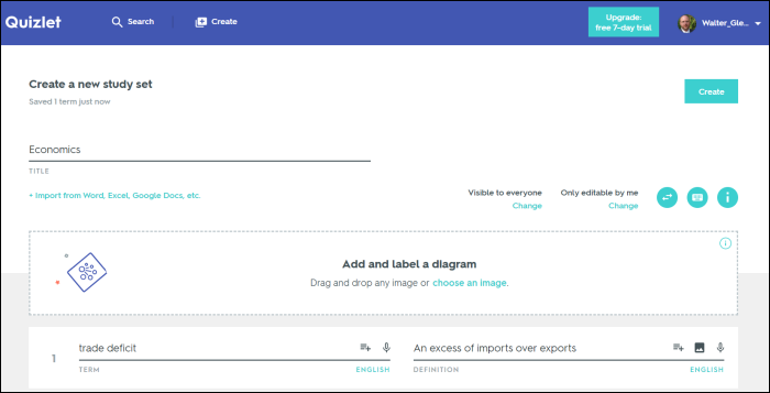 quizlet home page