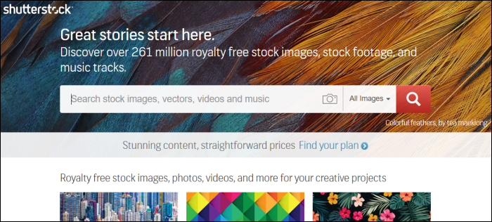 shutterstock home page