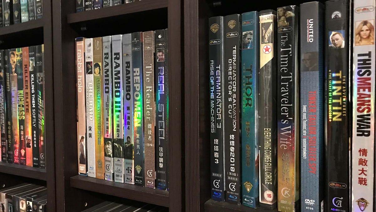 Alphabetized movie collection