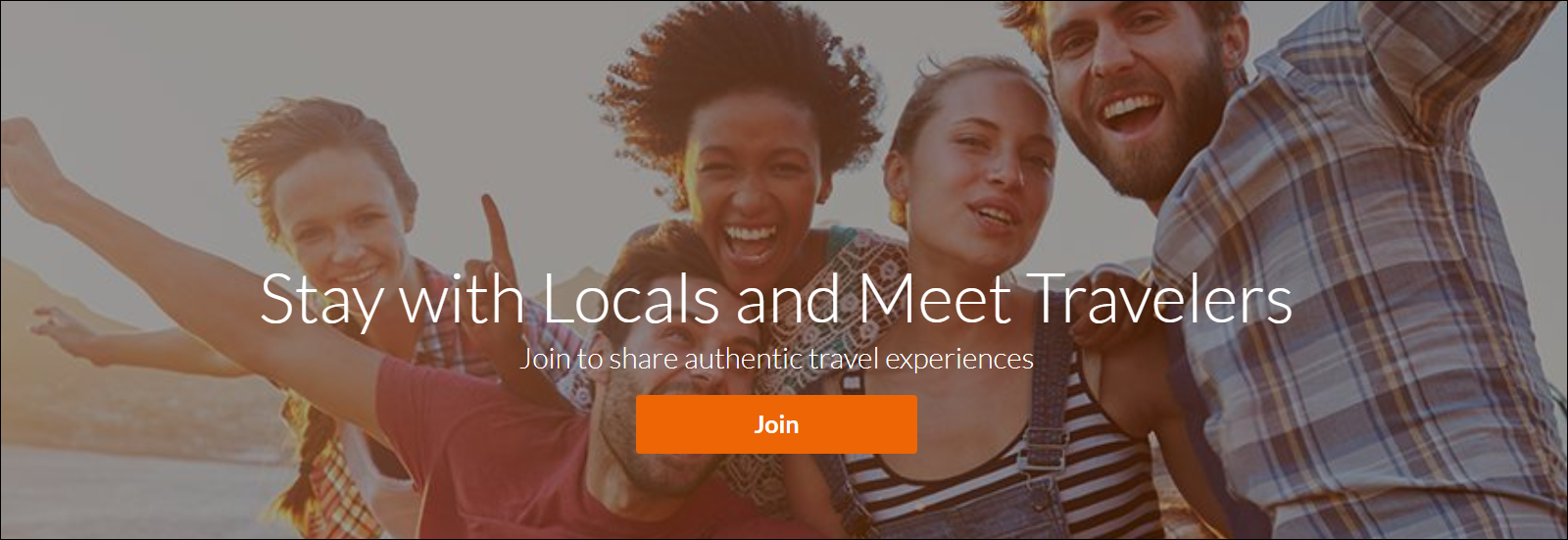 couchsurfing home page