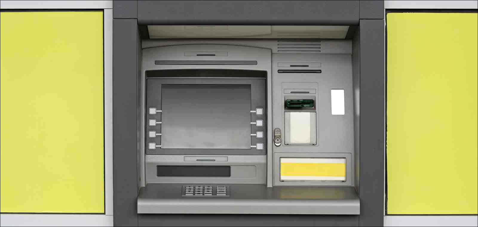 Automated Teller Machine Bank at Yellow Wall