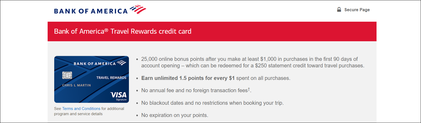 bank of america web site