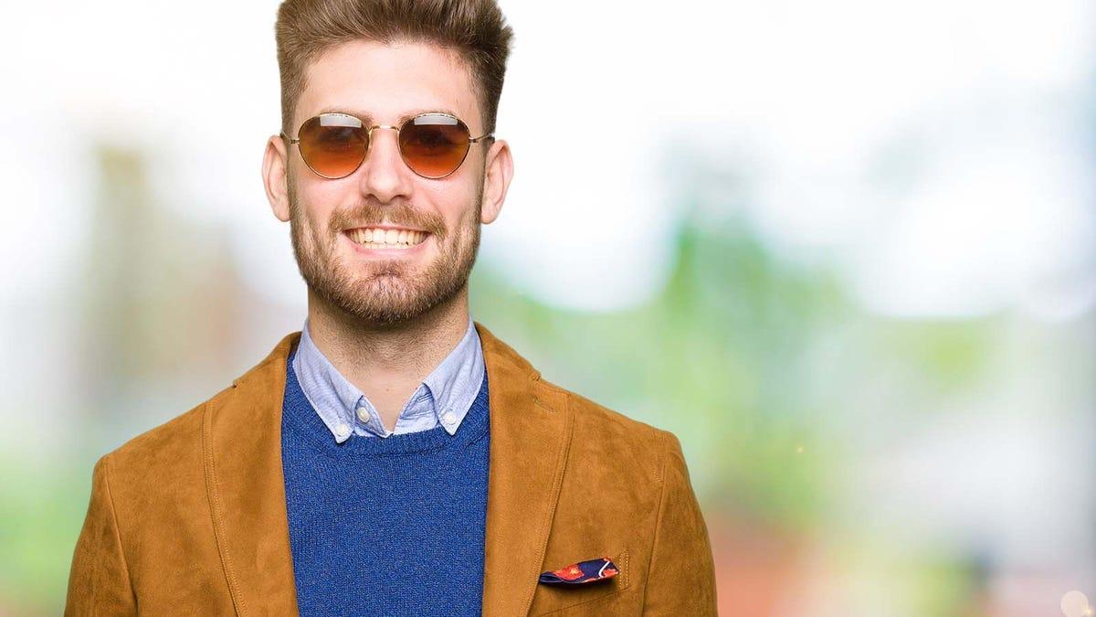 Man wearing dressy casual clothing