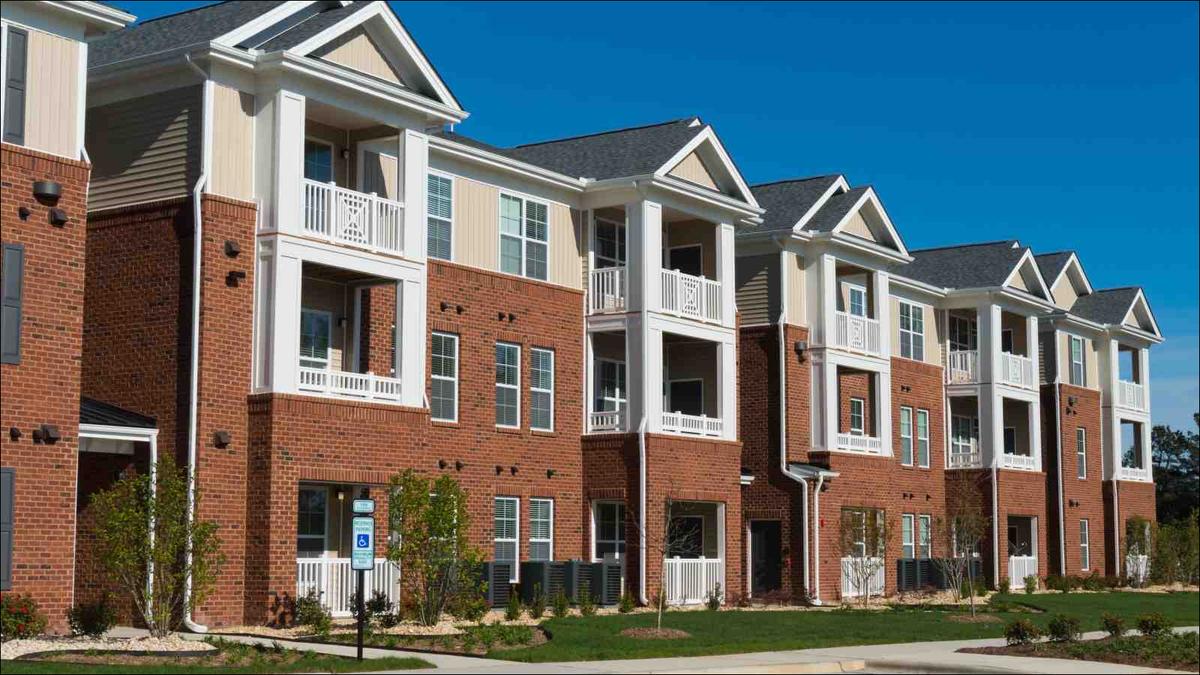 Suburban apartment building