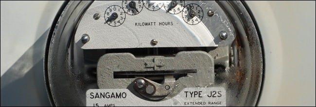 closeup of power meter