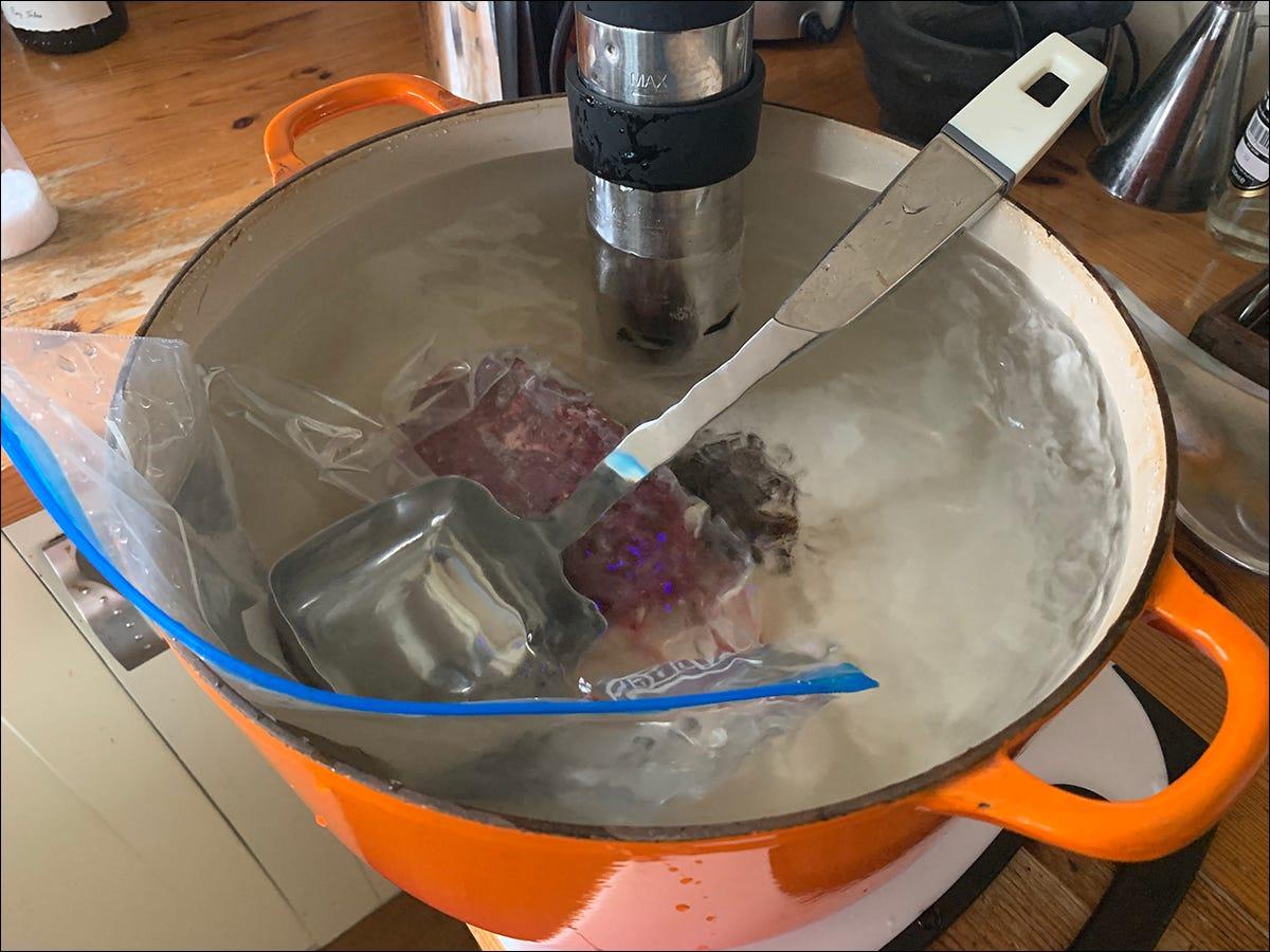 weighing down food