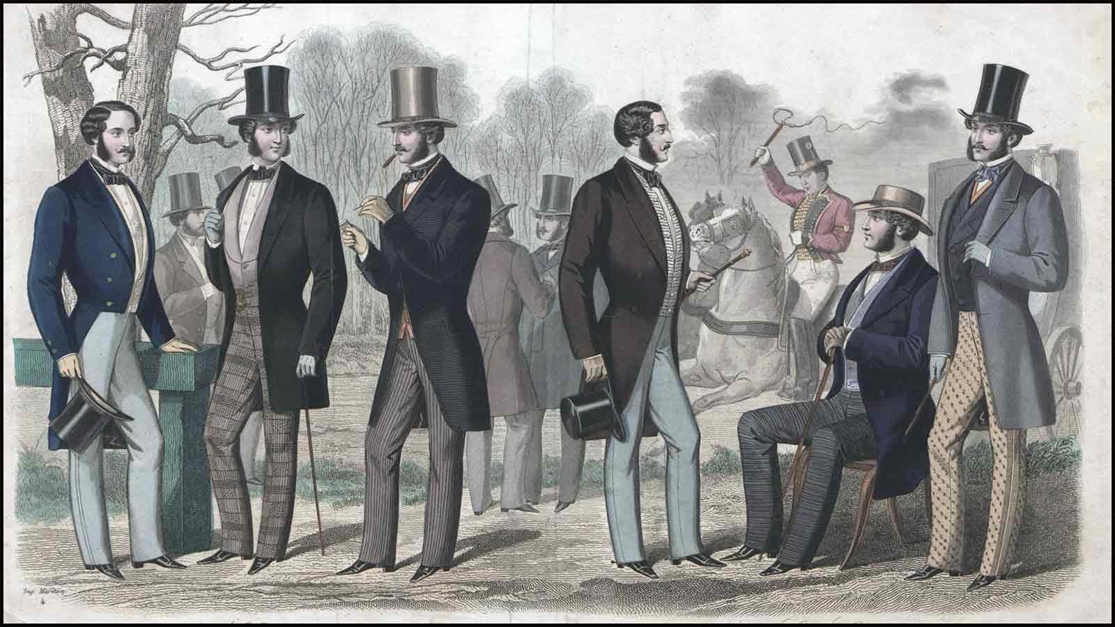 Lithograph from L'Elegant: Journal des Tailleurs de Paris, 1857