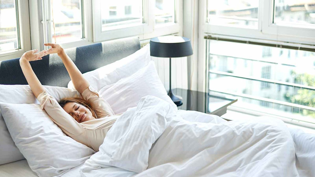 woman enjoying an extra day of vacation