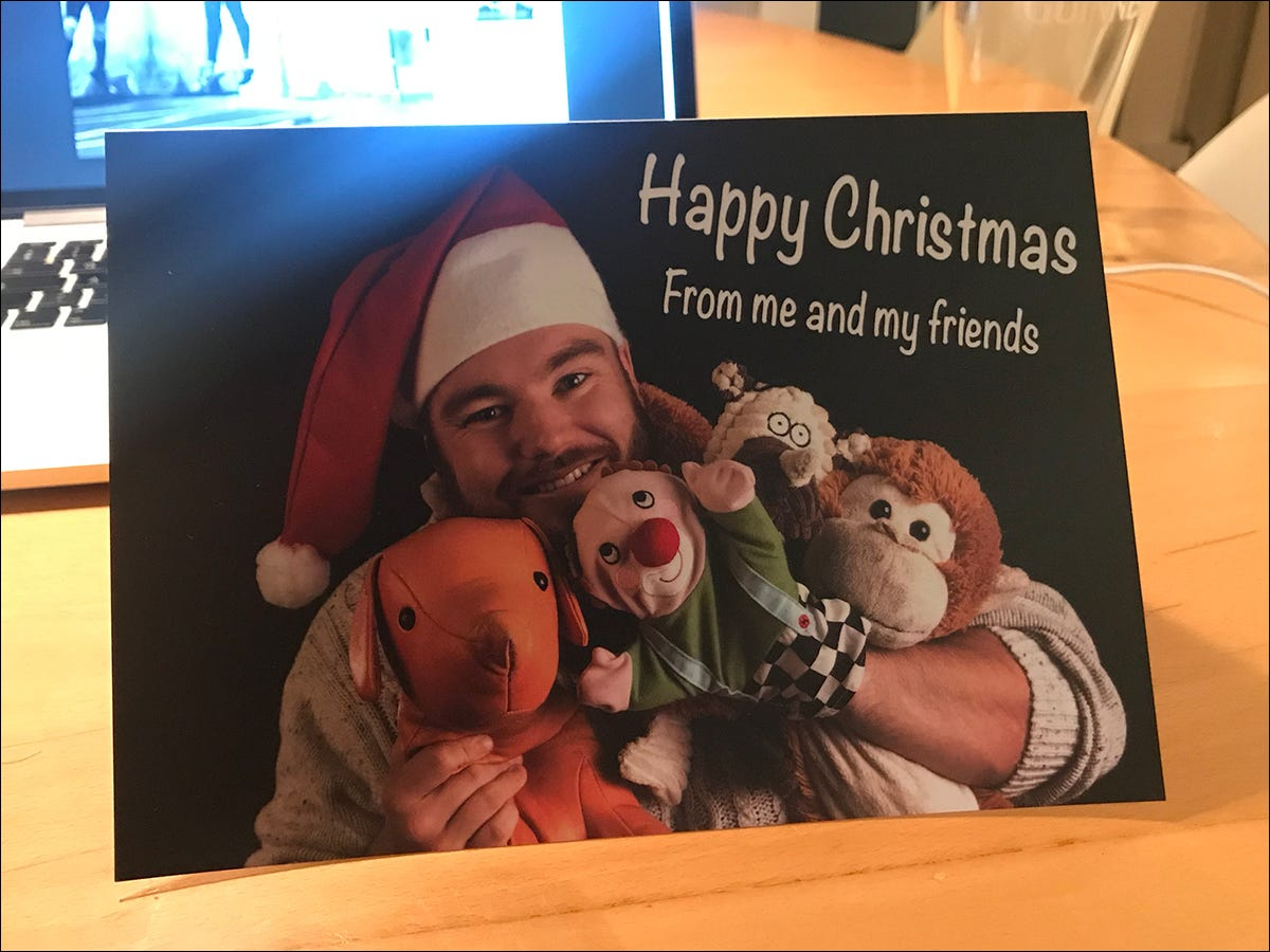 example of a personalized Christmas card