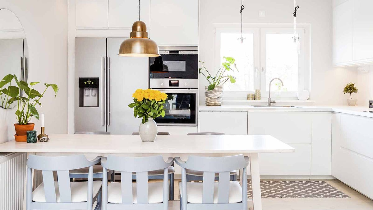 a tidy and brightly lit kitchen