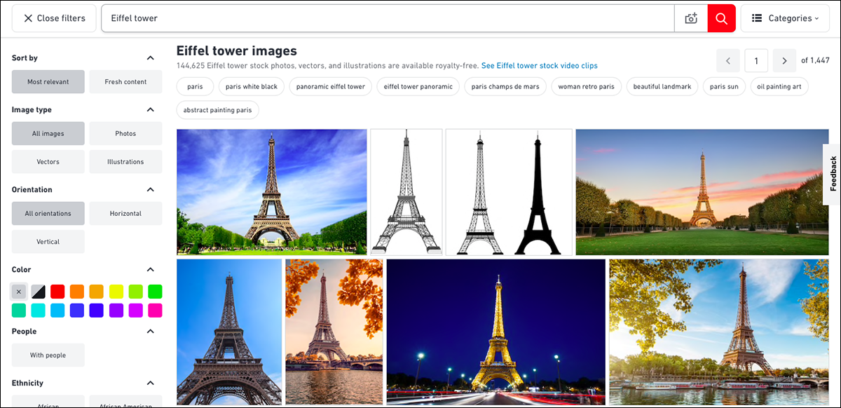 Similar photos of the Eiffel Tower.