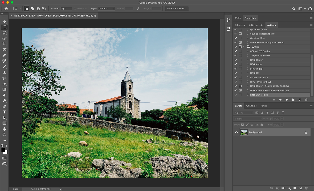 An image being edited in Adobe Photoshop.