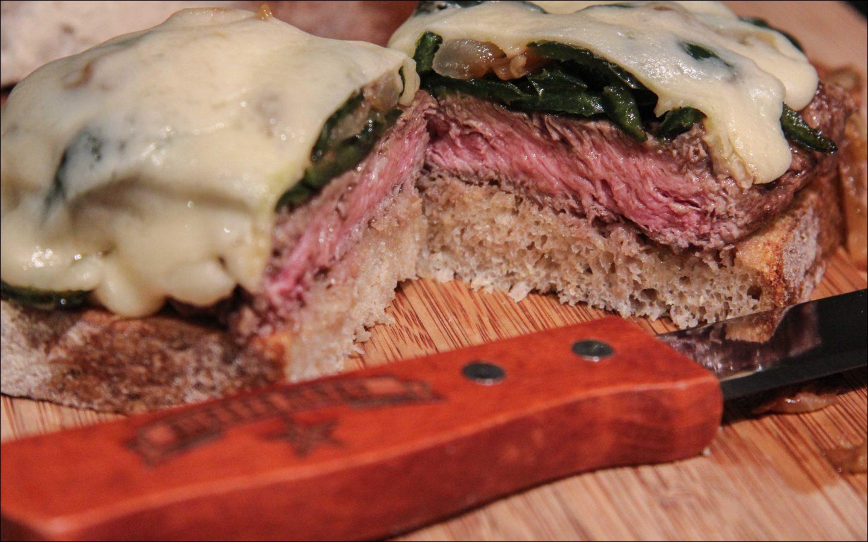 flat iron steak sandwich