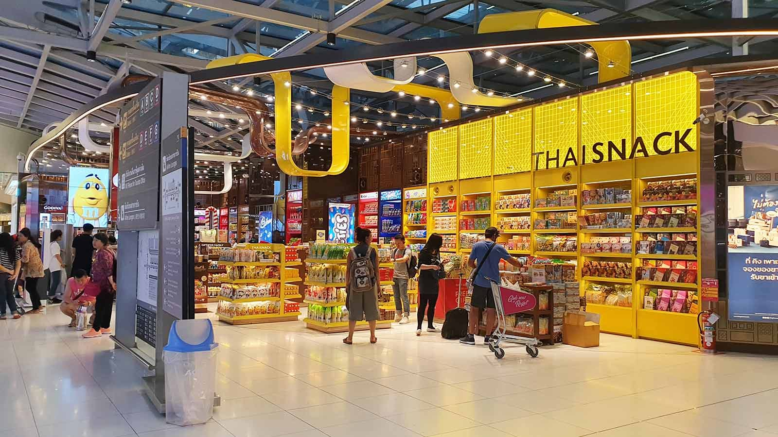 "A ""Thai Snack"" shop at an airport."