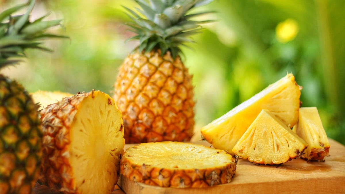 Freshly cut pineapple, ready to be grilled or turned into a delicious drink.