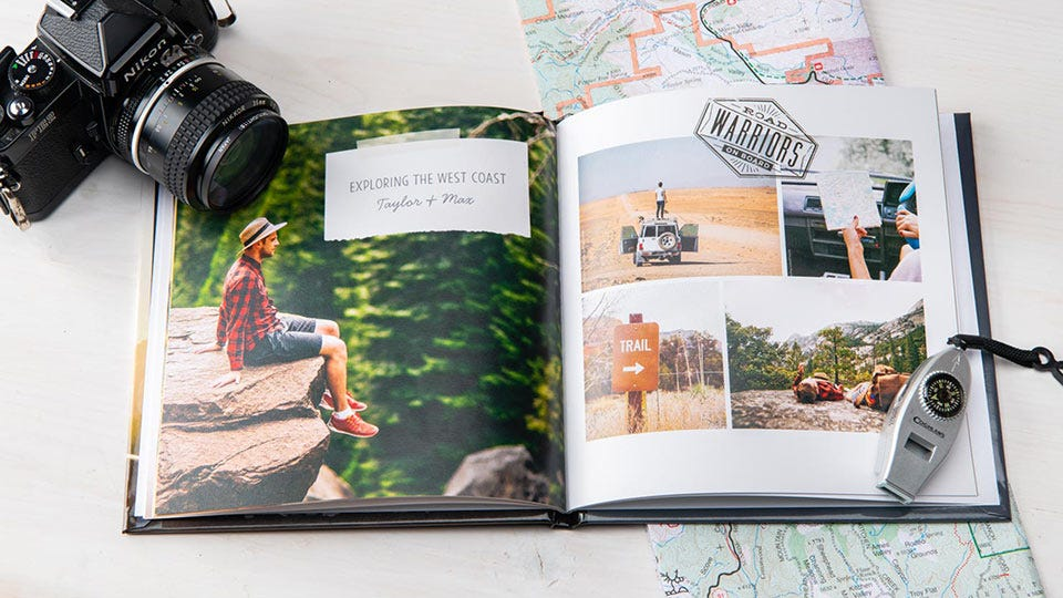 Example of Shutterfly's photo books, this one with a travel theme.