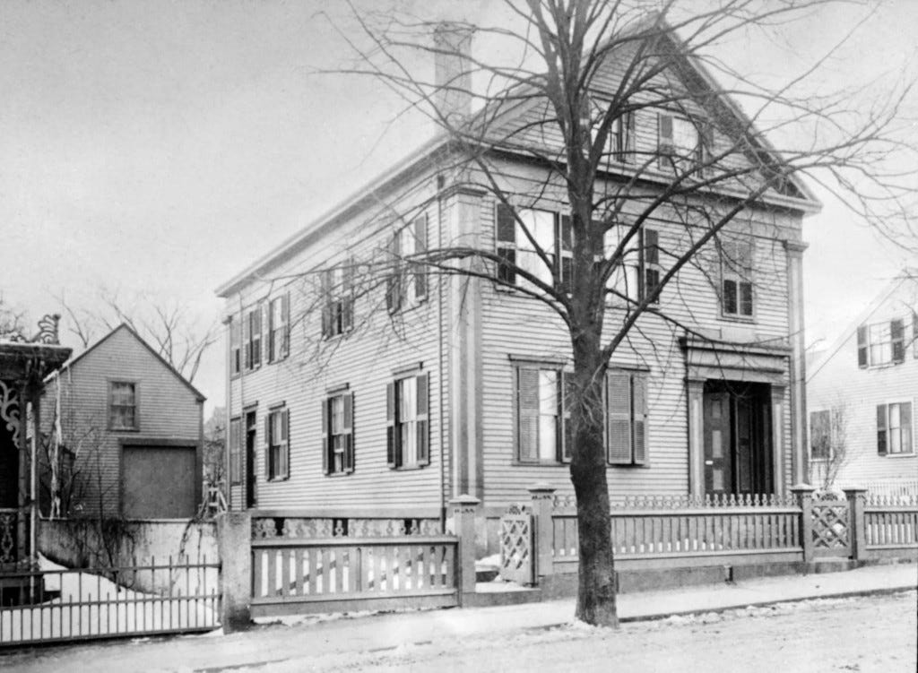 The front of the Borden house in 1892.