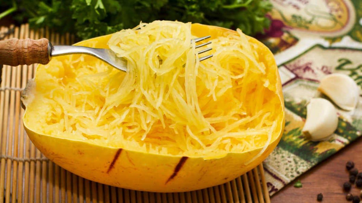 freshly baked spaghetti squash