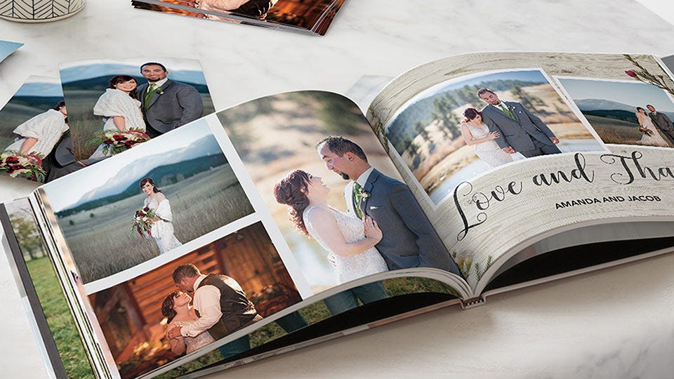 a customized photo book from Snapfish