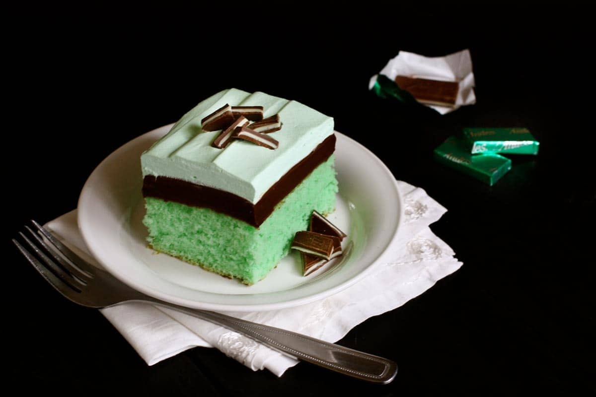 a chocolate and mint cake