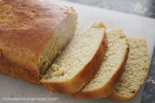 A loaf of no-knead einkorn bread.