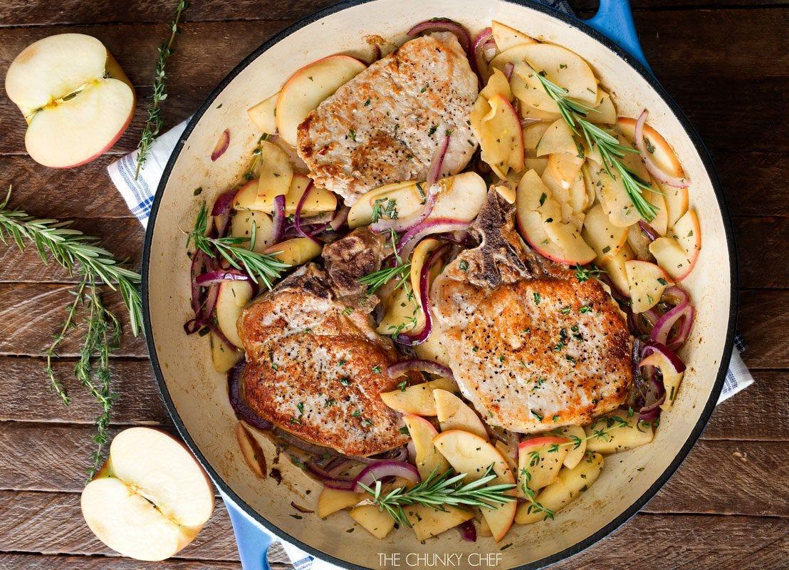 one pan pork chop dinner