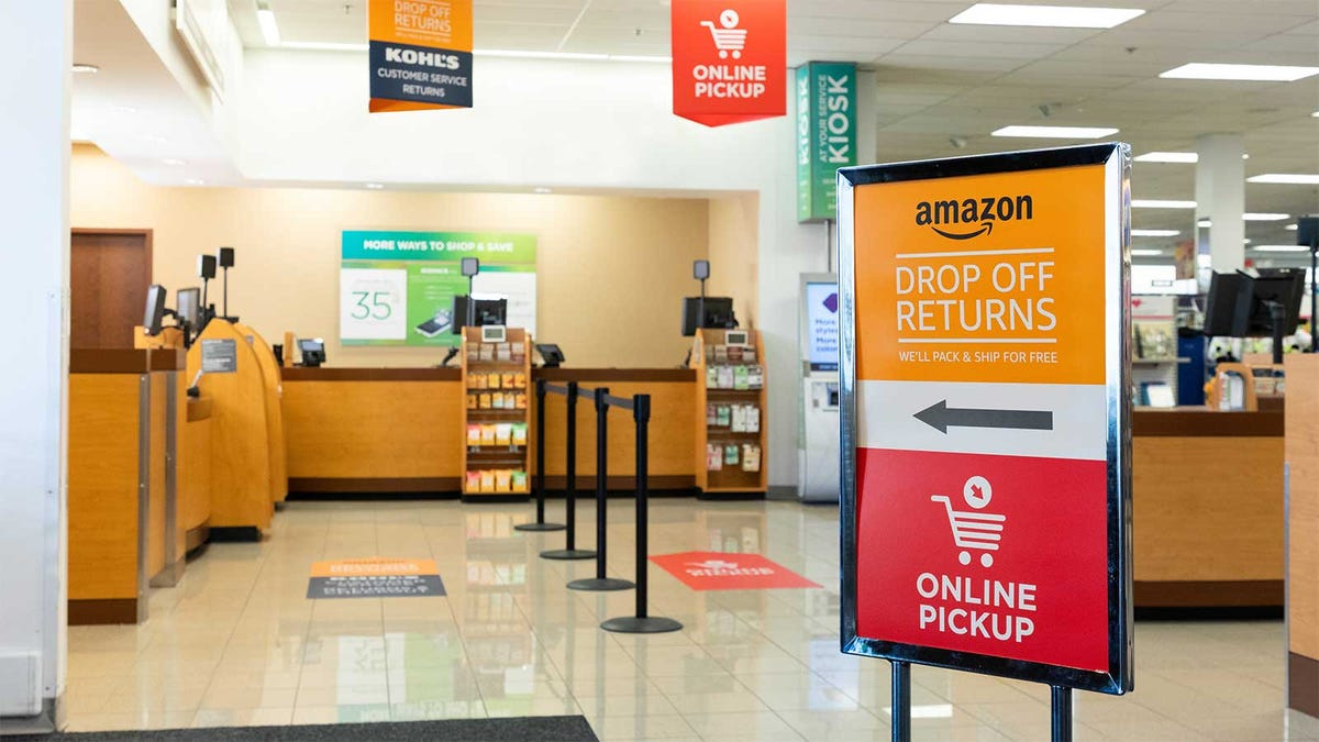 The Amazon returns desk in a Kohl's store.