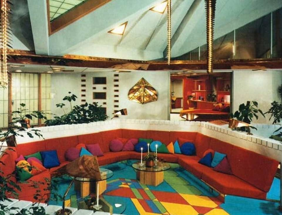The living room of The House of the Future