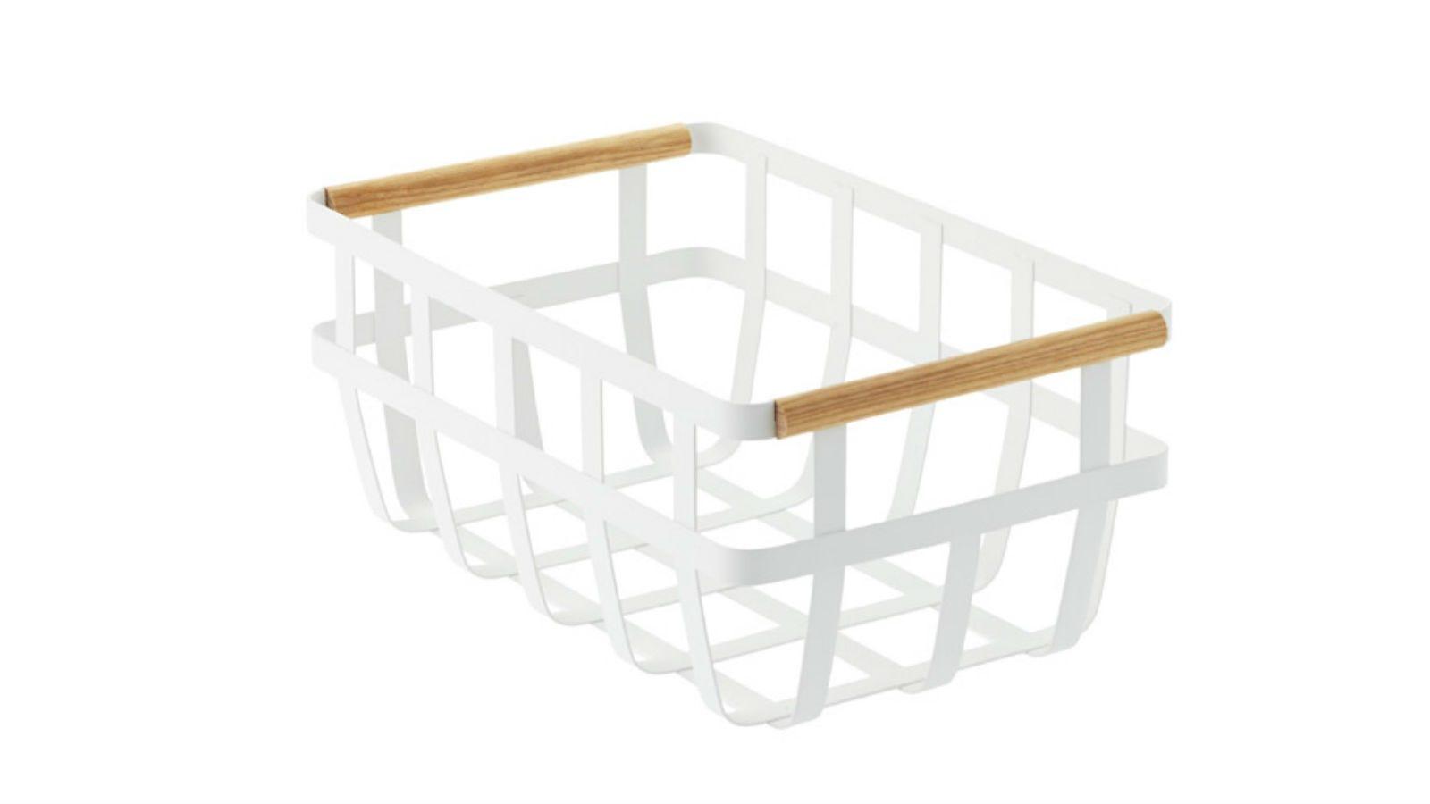 Yamazaki Tosca Baskets with Wooden Handles