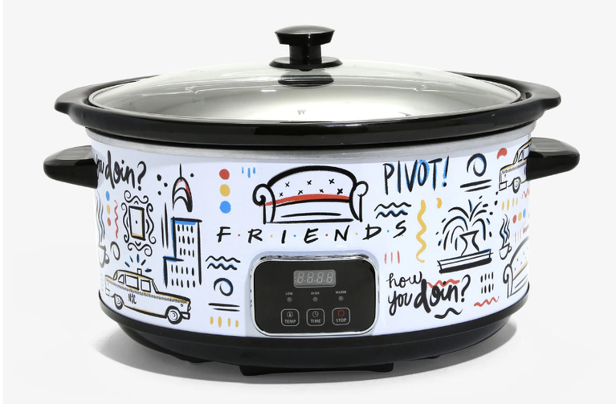 Friends-themed slow cooker.