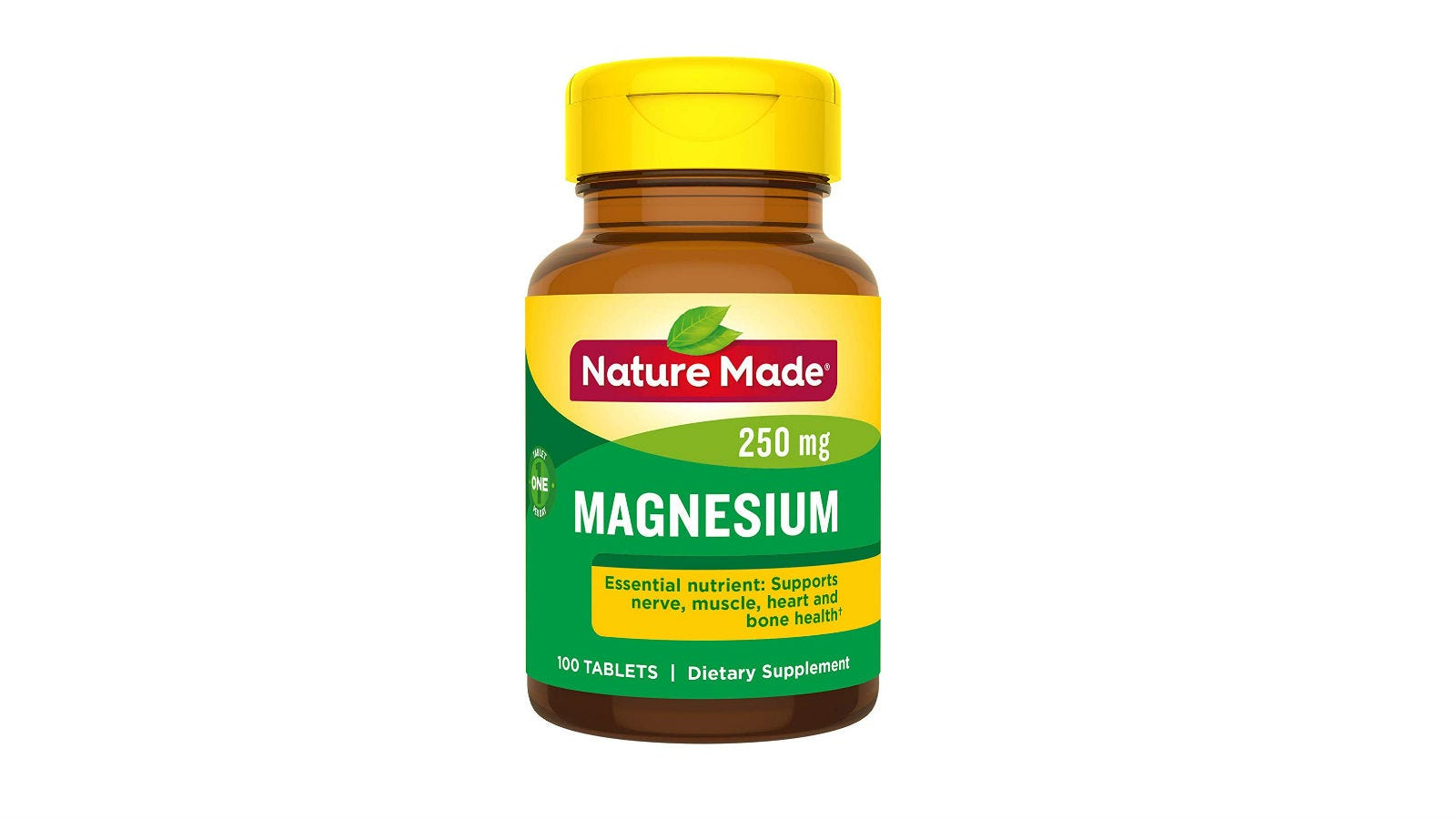 A bottle of Nature Made Magnesium Oxide Tablets.