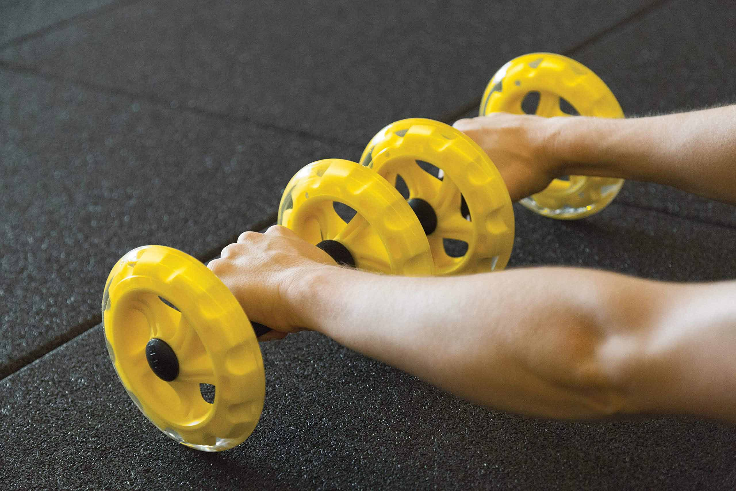 SKLZ core wheels abdominal exercise tools.