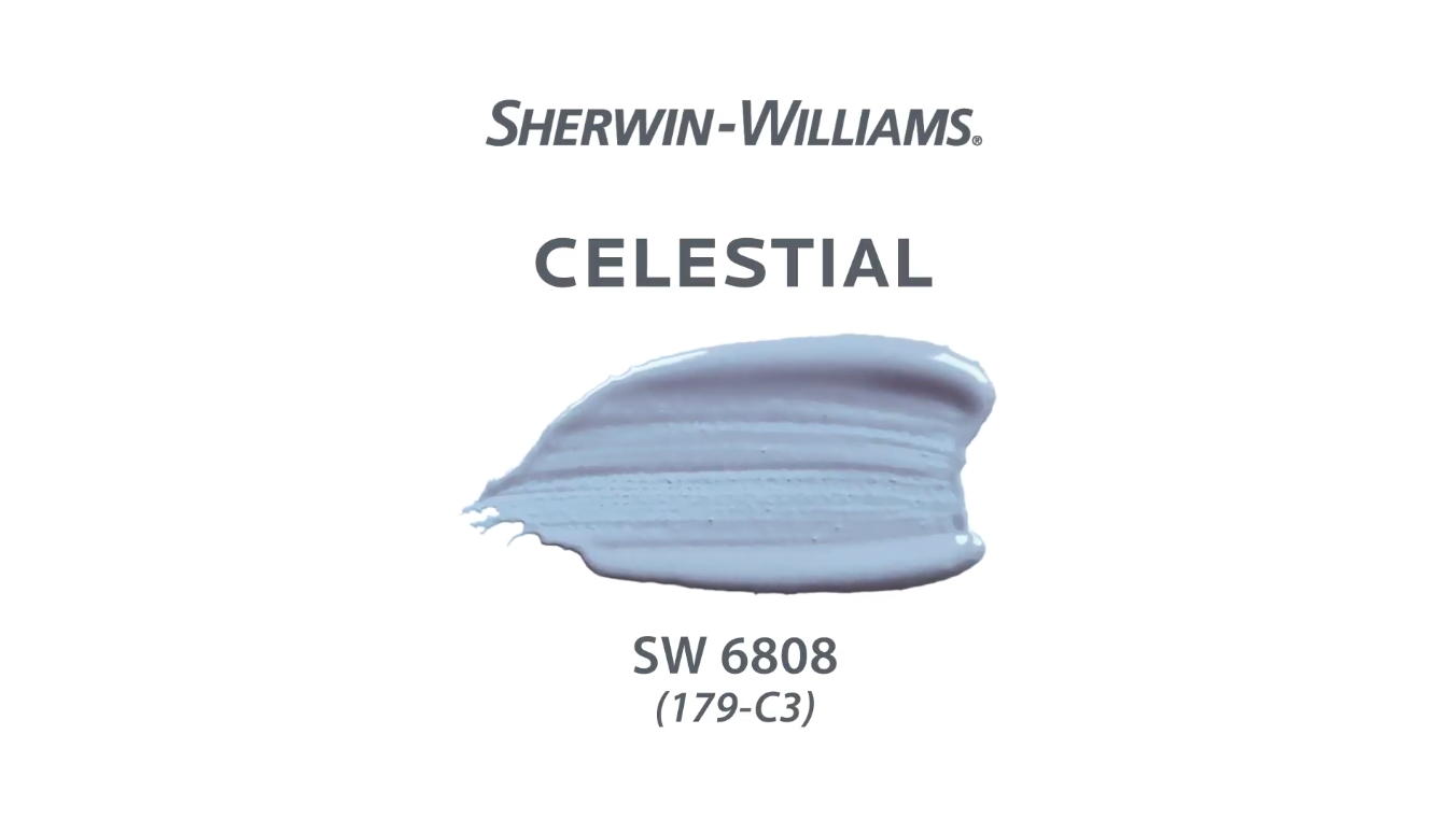 the Sherwin-Williams paint color named Celestial