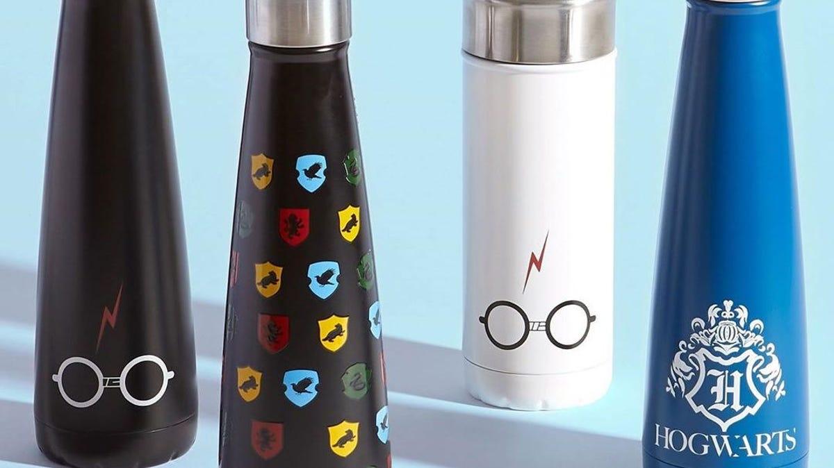 harry potter-themed water bottles