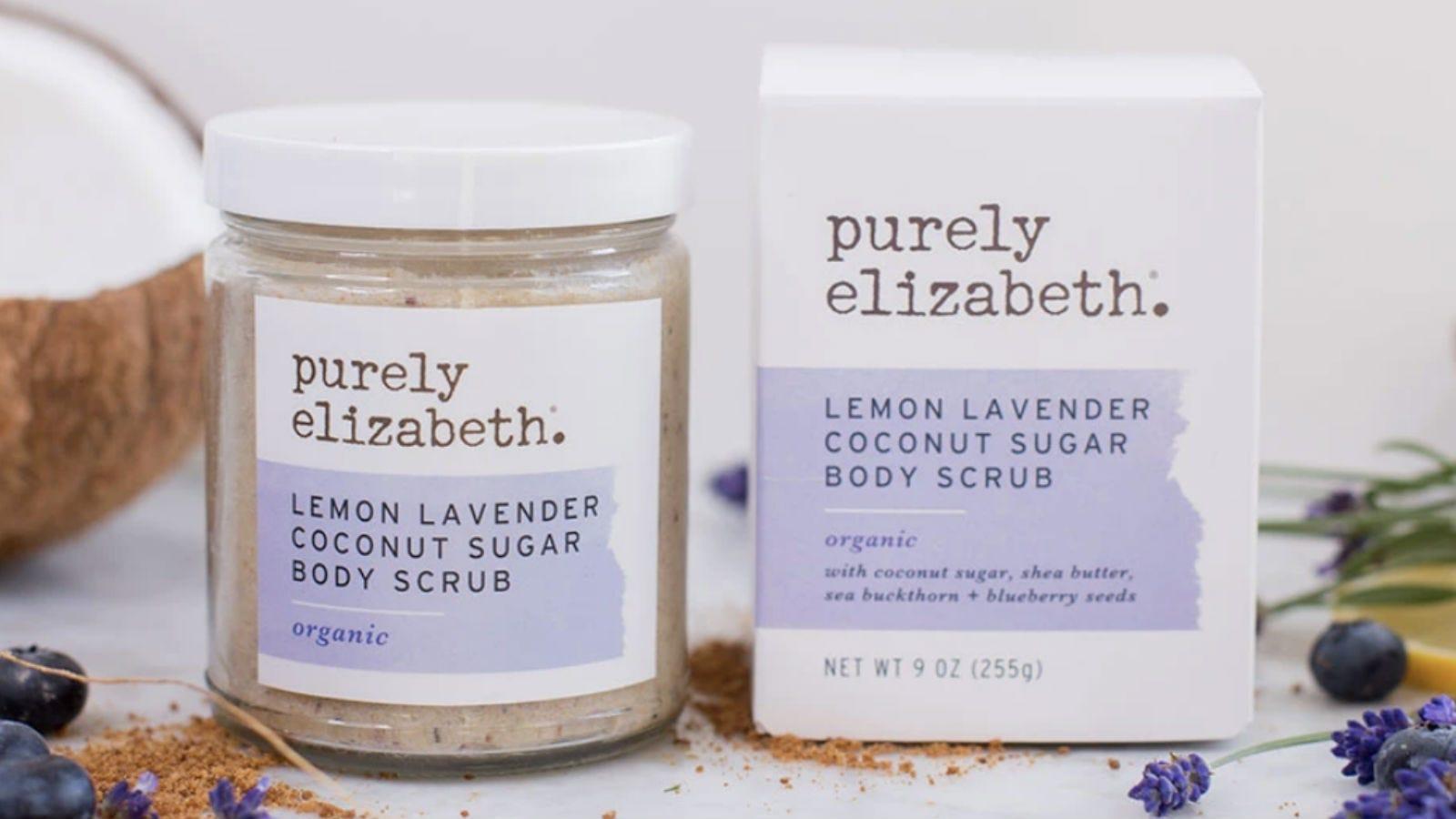 Purely Elizabeth Lemon Lavender Coconut Sugar Body Scrub