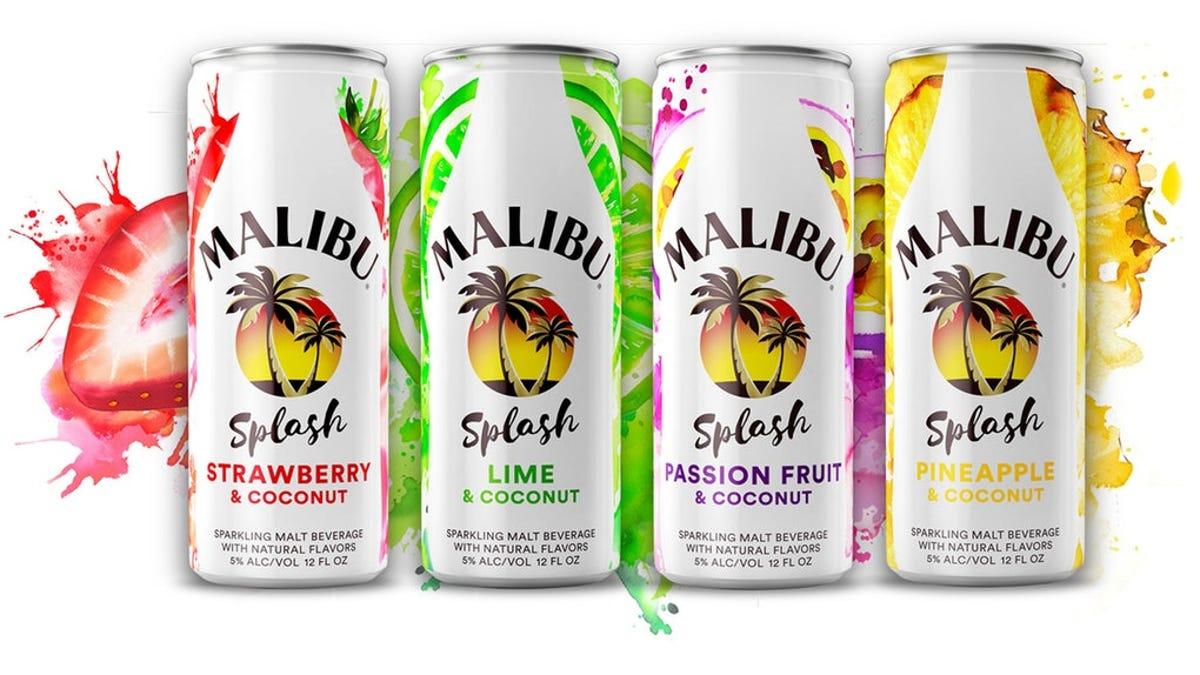 Malibu Splash in four flavors