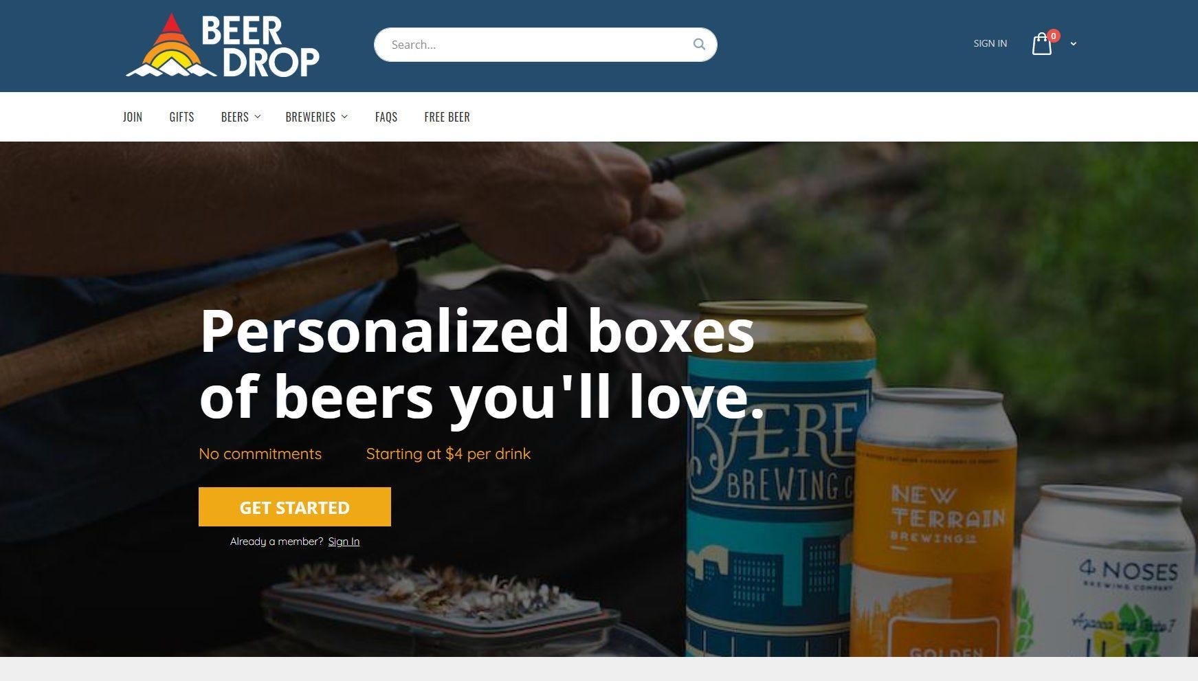 The Beer Drop website.