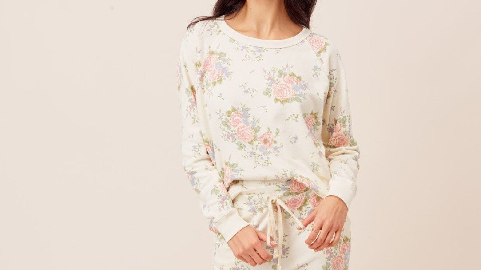 Sarah Floral Jogger and Zoe Floral Pullover