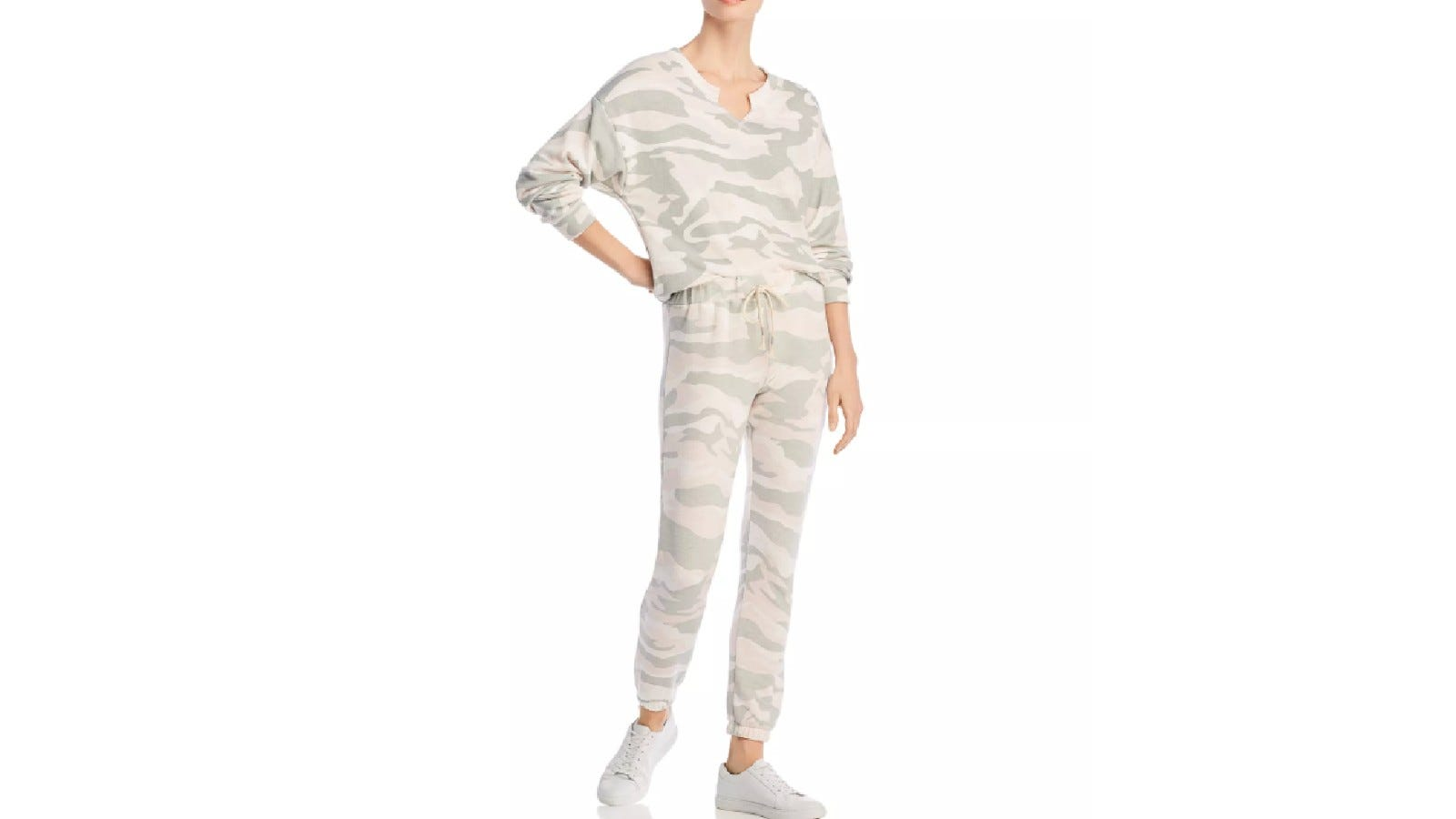 Vintage Havana Camo Print Sweatshirt and Jogger Pants
