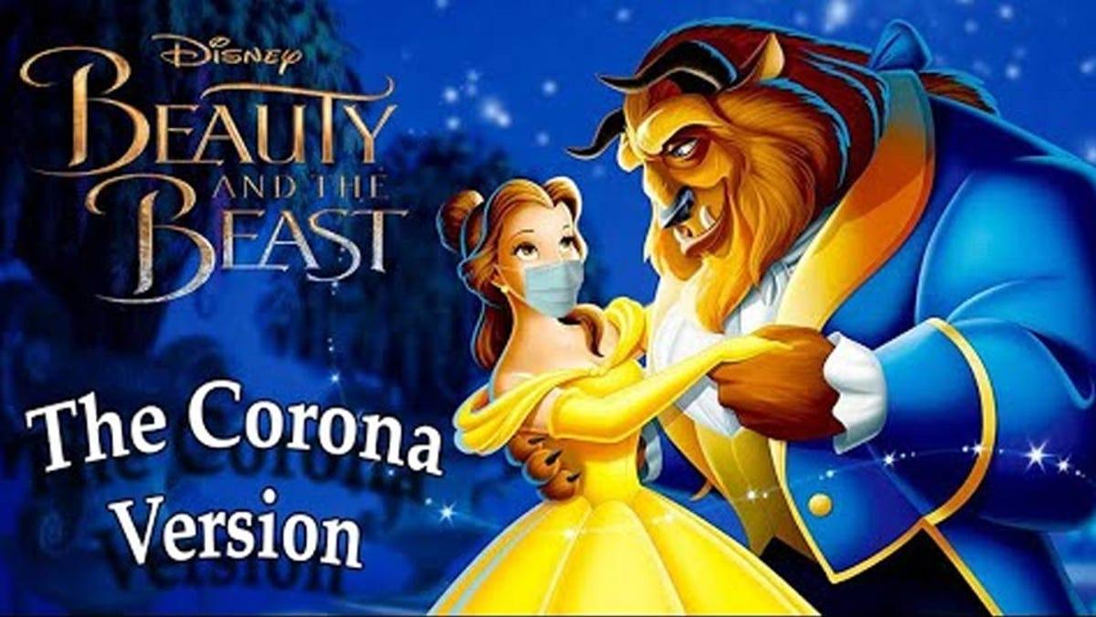 Thumbnail for the Beauty and the Beast coronavirus parody video.