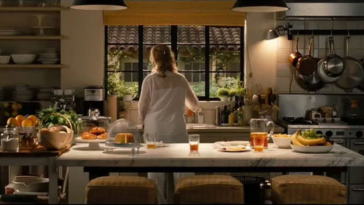 The kitchen from the film It's Complicated with Meryl Streep at the sink.