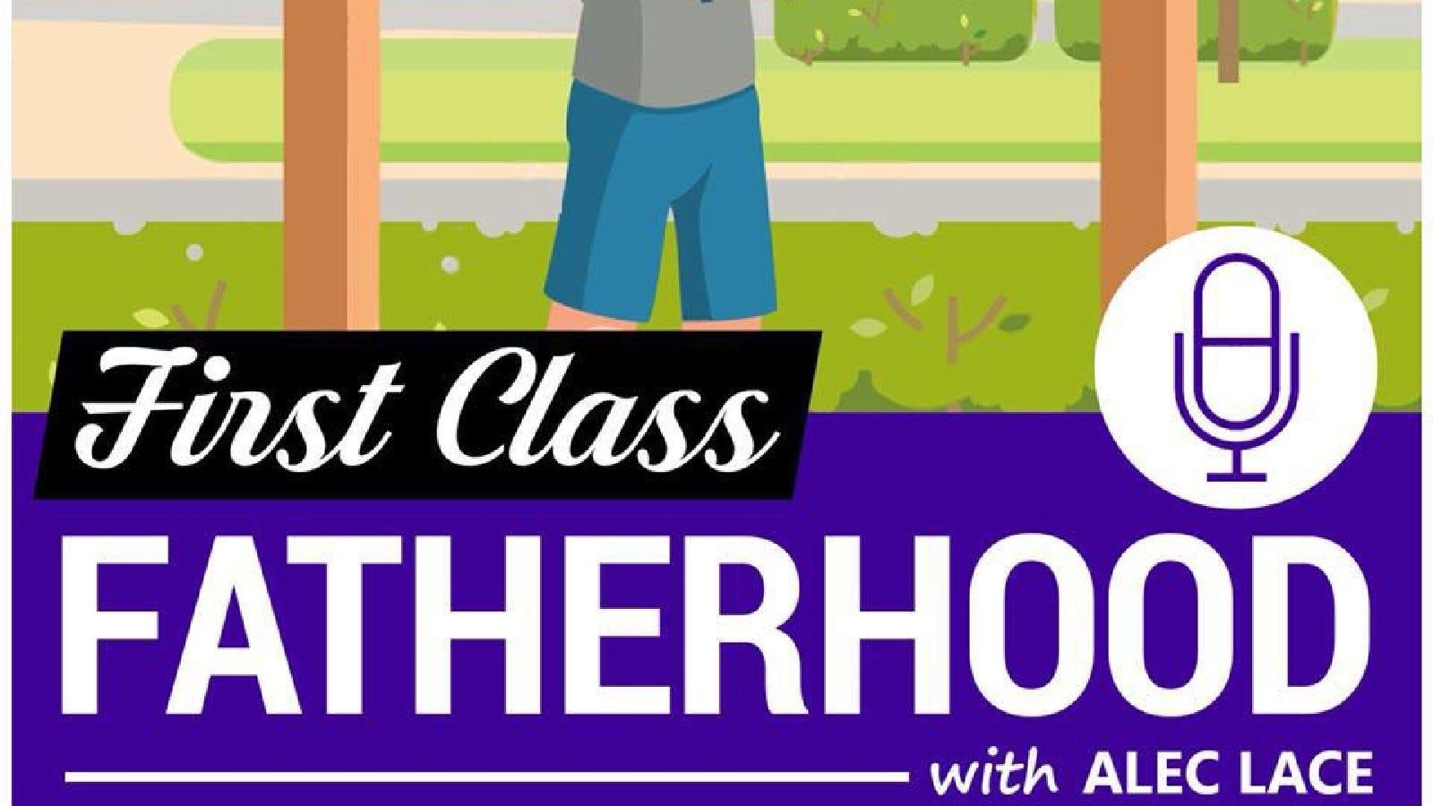 """The """"First Class Fatherhood"""" logo."""