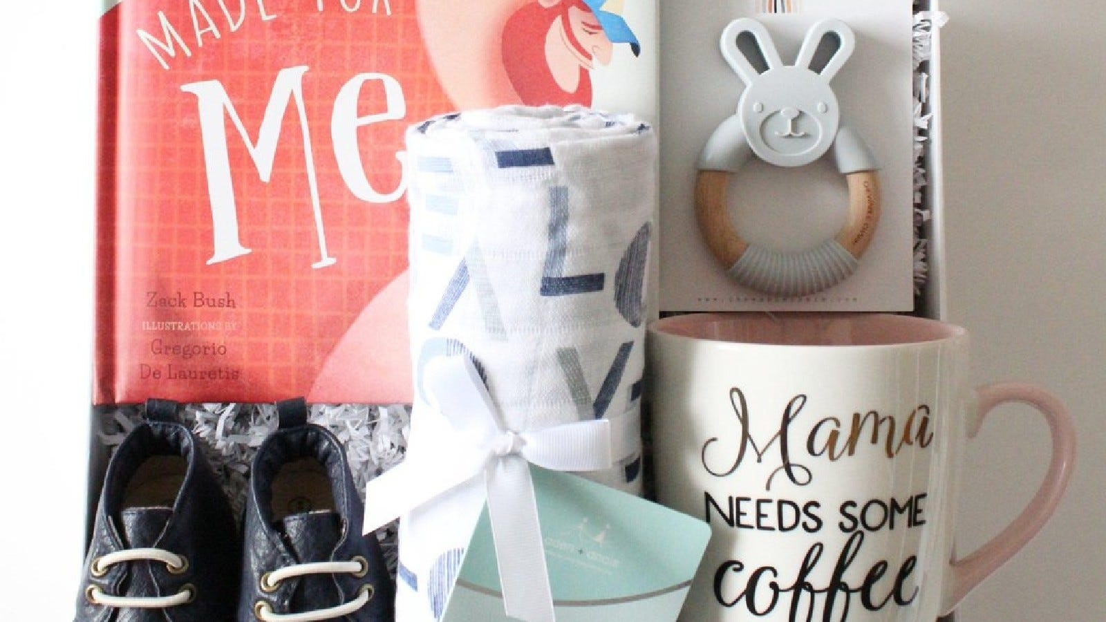 New Mom, Dad, And Baby Gift Box