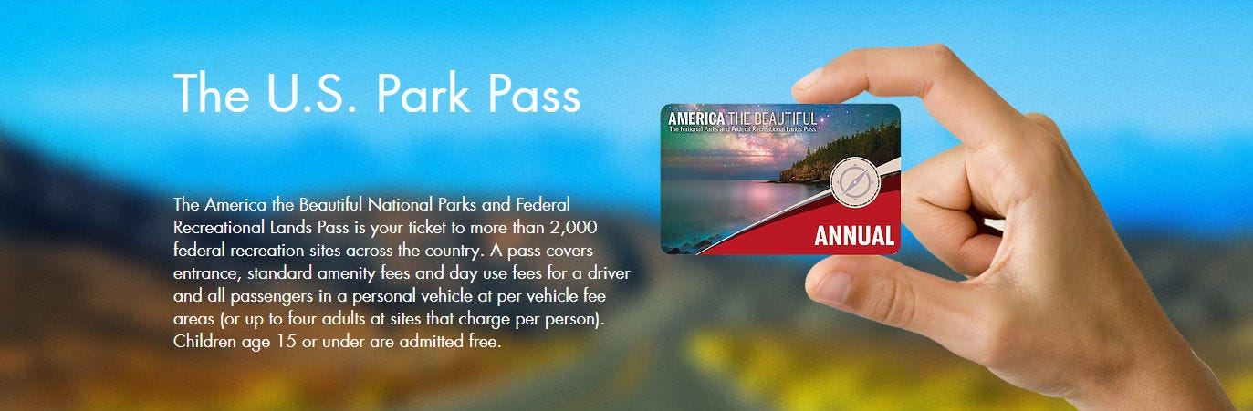 The U.S. Park Pass website.