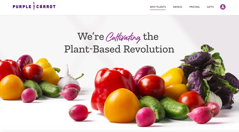 The Purple Carrot website.