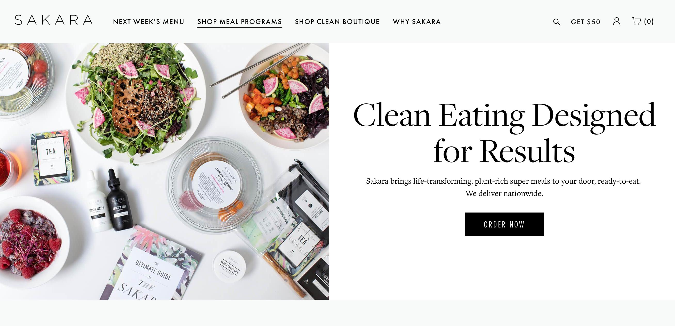 Sakara life meal delivery program