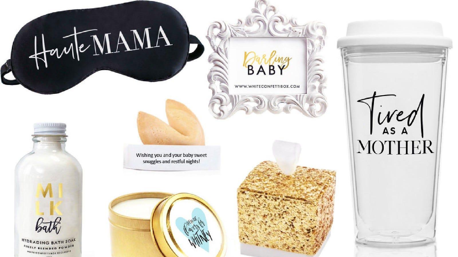 The White Confetti Baby Box.