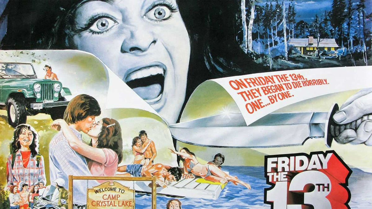 Original movie poster for Friday the 13th.